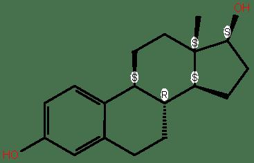 Östrodiol molekülü